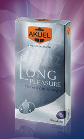 Akuel long pleasure (6 profilattici)